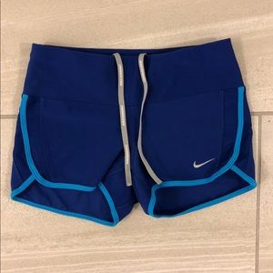 Nike dri-fit blue spandex shorts